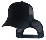Big Black Mesh Cap
